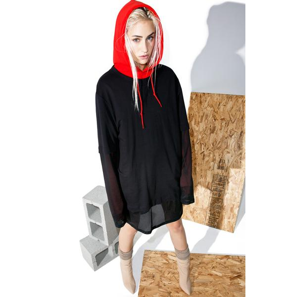 Cheap Monday Fake Mesh Long Sleeve Tee