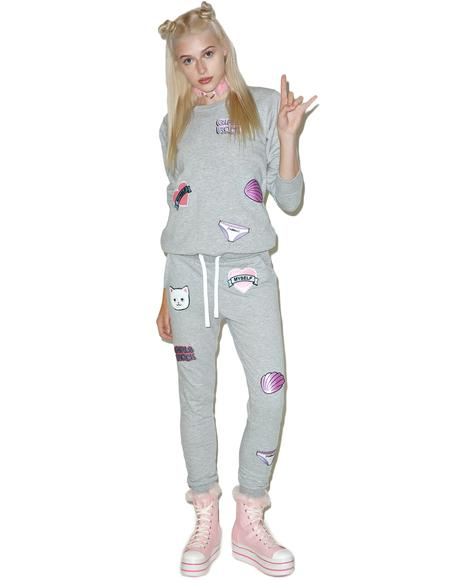 Girl Power Patches Sweatpants