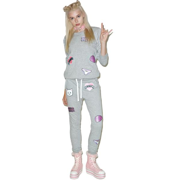 Local Heroes Girl Power Patches Sweatpants