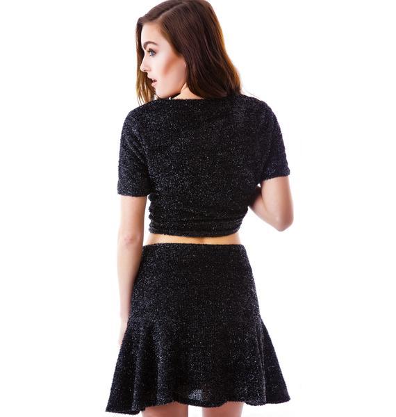 Dionne Fuzzy Skater Skirt