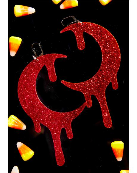 Glitter Bloodmoon Earrings