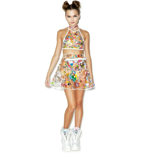 Indyanna Polly PVC Pleated Skirt With Fanny Pack