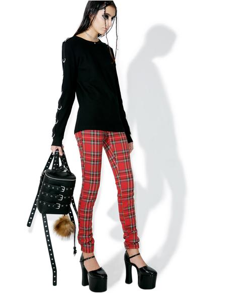 High Waisted Plaid Pants