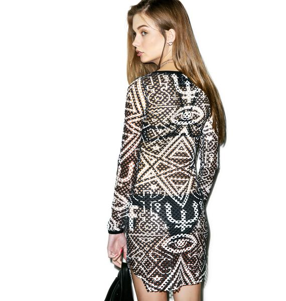 Killstar Thelma Fishnet Dress