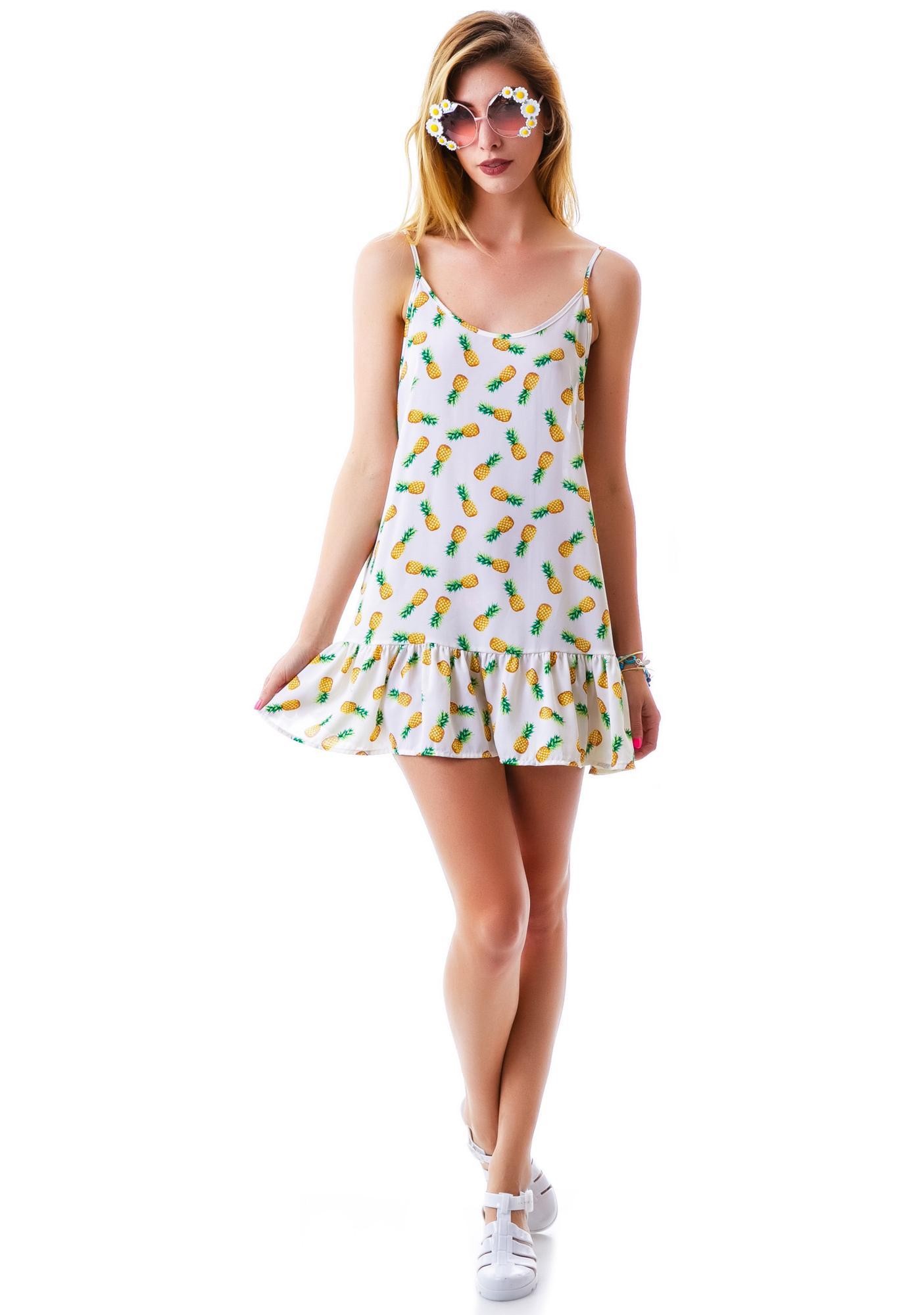 Pinapple Express Ruffle Dress