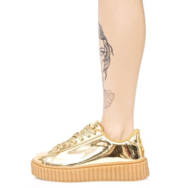 Trophies Metallic Creeper Sneakers