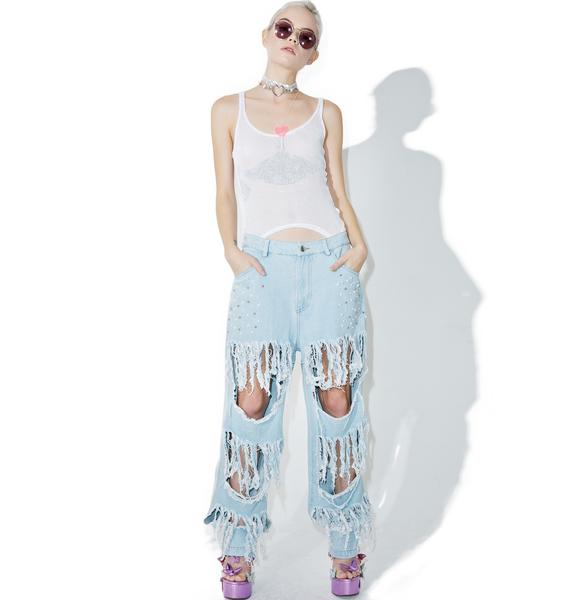 Pearl Jammin' Distressed Jeans