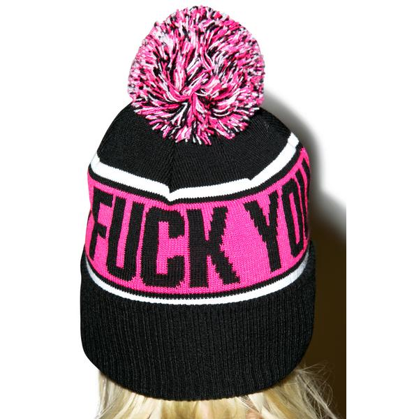 Sourpuss Clothing Fuck You Beanie