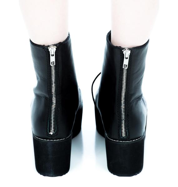 HLZBLZ X Belle Of The Brawl Stomp Lace Tie Up Boot