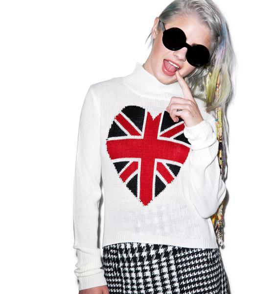 I Heart England Flag Turtleneck