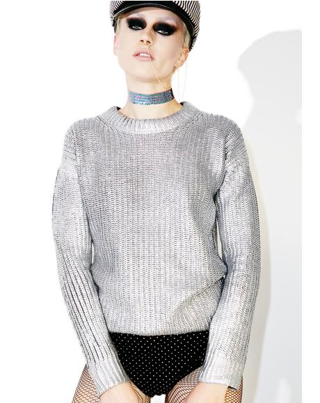 Nysa Metallic Sweater