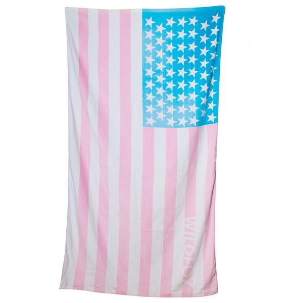 Wildfox Couture Sun Bleached Flag Swim Towel