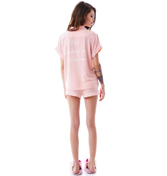 Wildfox Couture Sleeping In Classic PJ Short Set