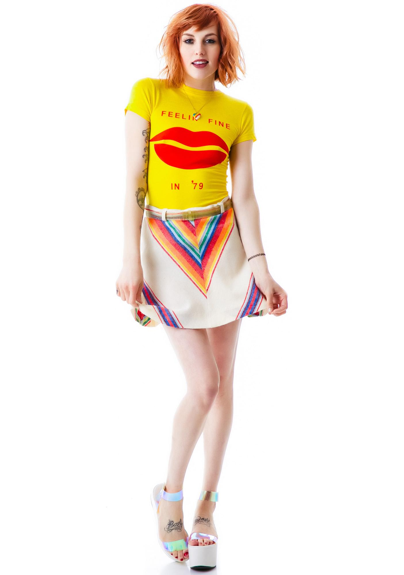 Wildfox Couture Fine Lips Skinny Tee