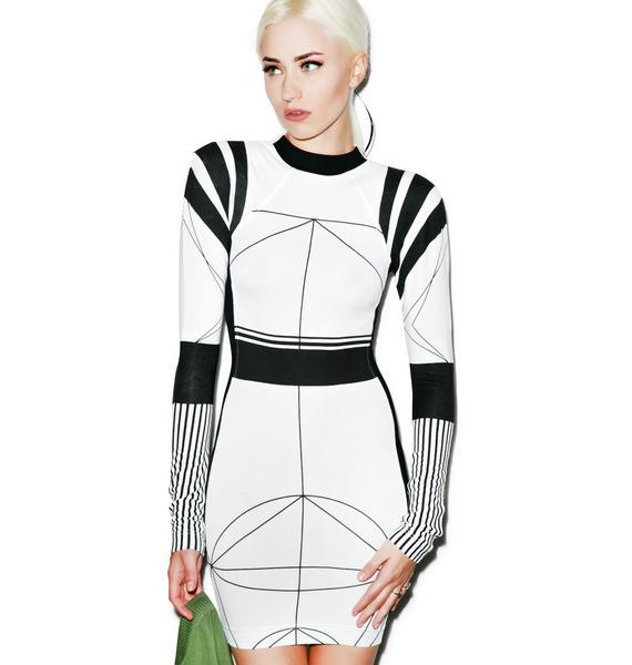 Black Scale Cydonia Dress