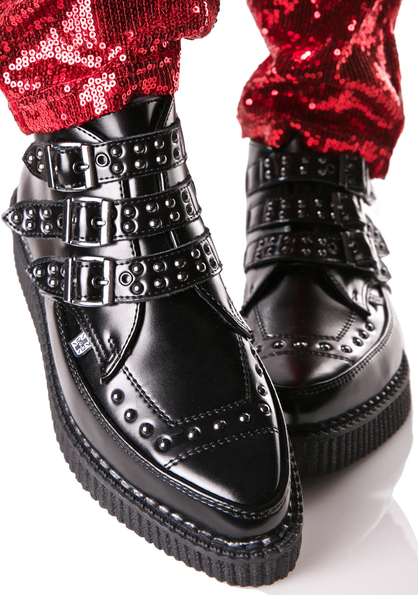 T.U.K. Triple Buckle Studded Creepers