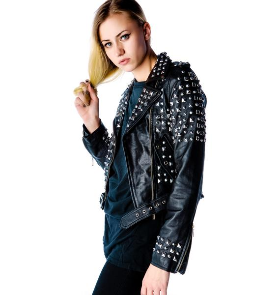 Killstar Studded Leather Jacket