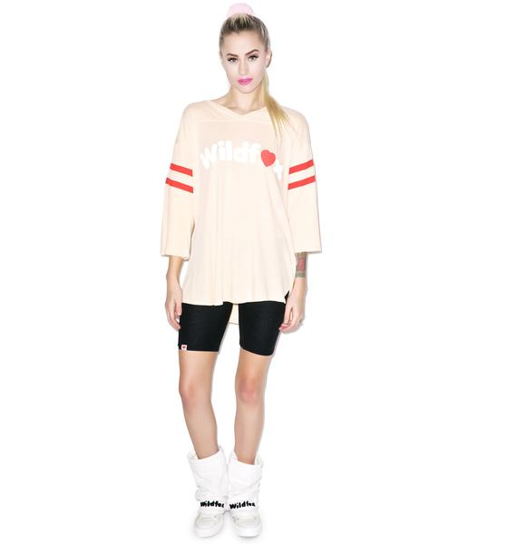 Wildfox Couture 70's Heart Logo Jersey Tunic