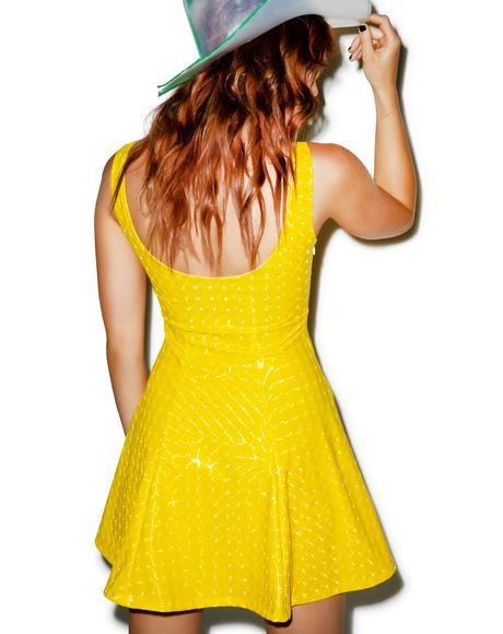 Galactic Foil A-Line Dress