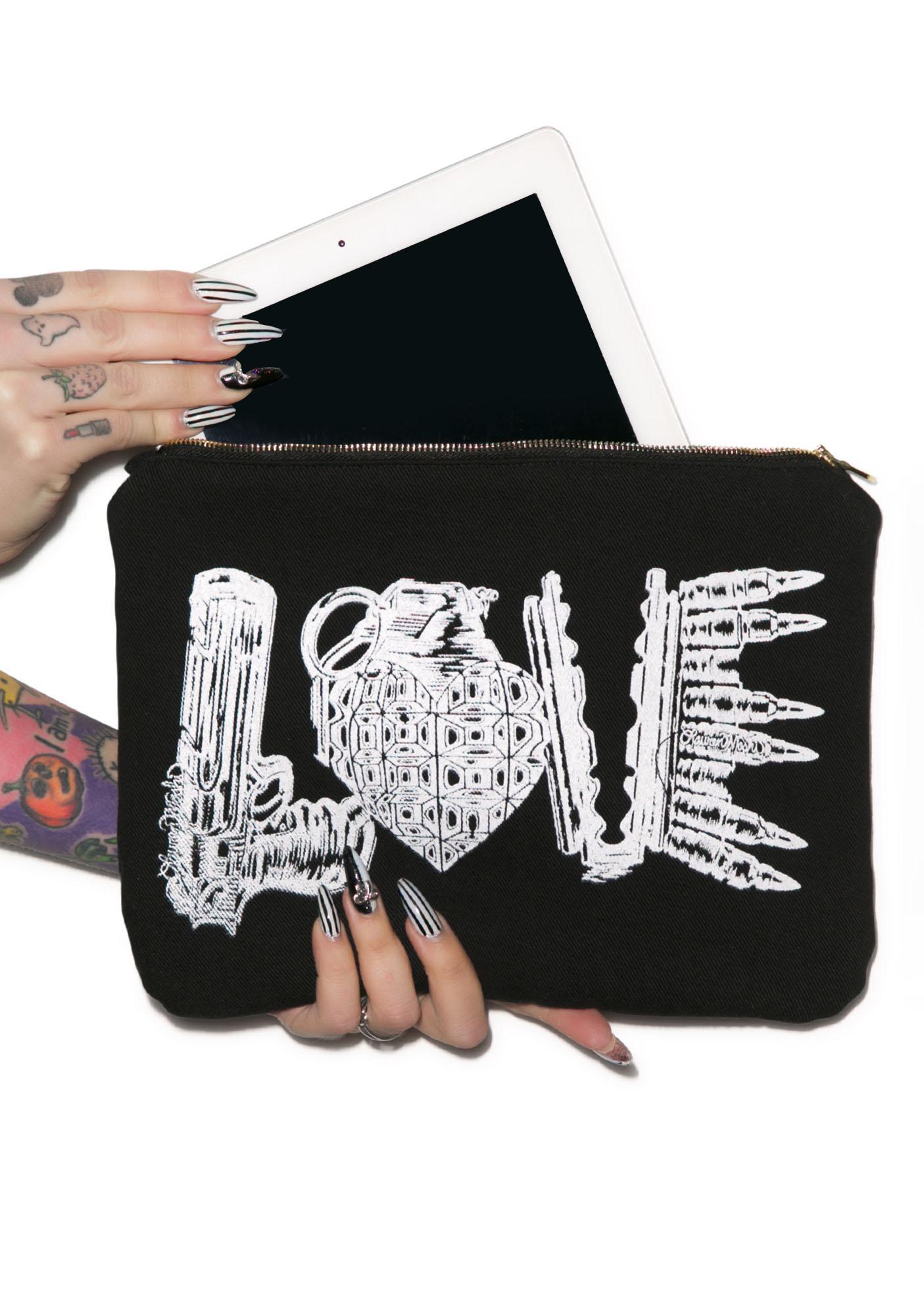Lauren Moshi Love Kills iPad Clutch