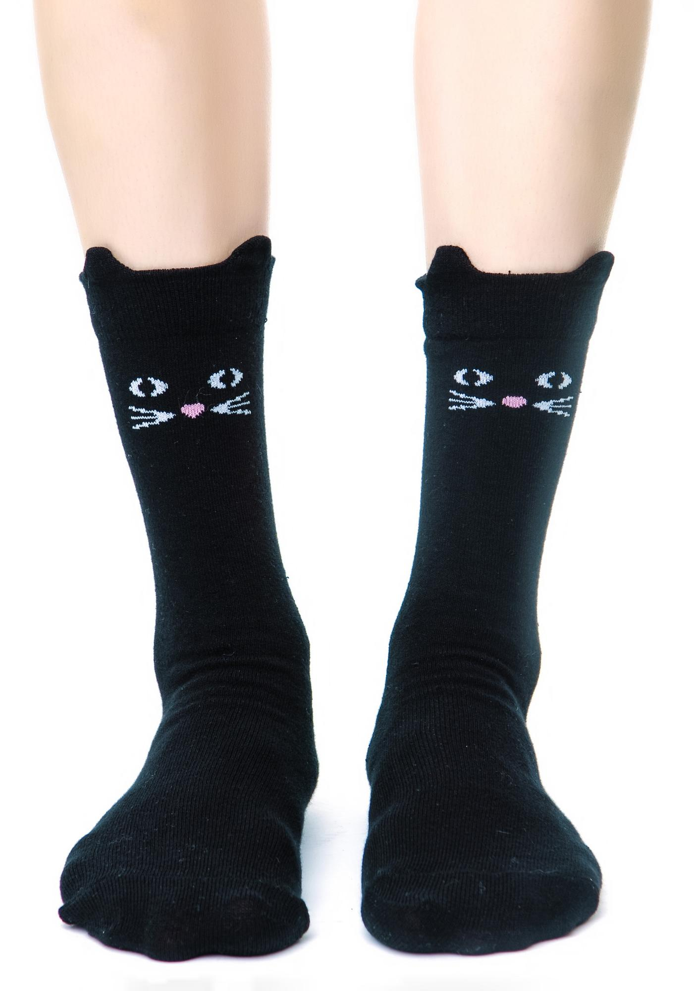 Lazy Oaf Kitty Socks
