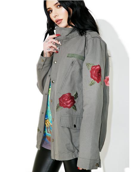Rose Bud Military Jacket