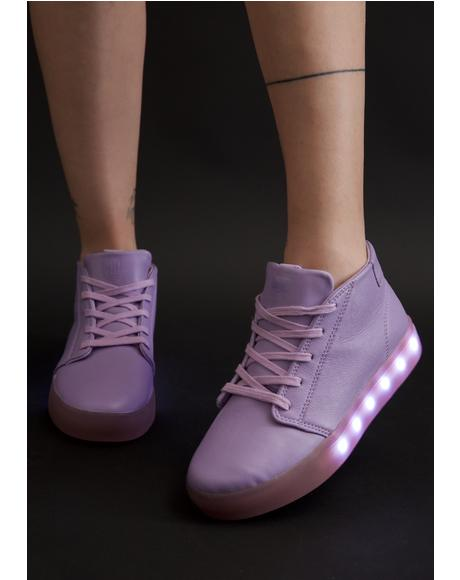 Pastel Pop Light-Up Sneakers