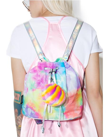 Rainbow Pom Backpack