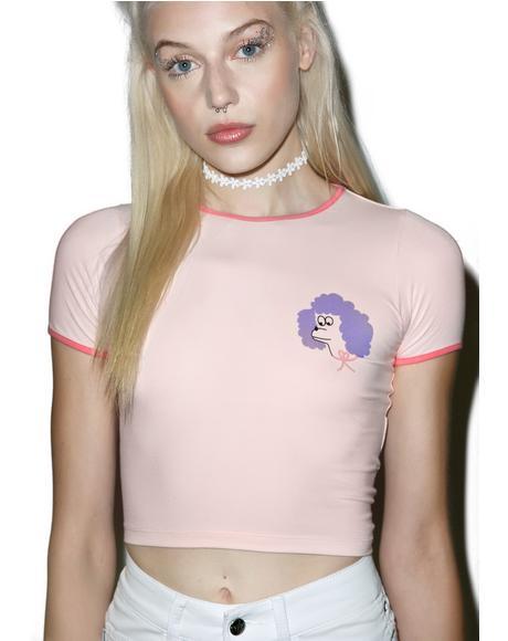 Poodle Head Crop T-Shirt