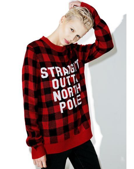 Straight Outta North Pole Sweater