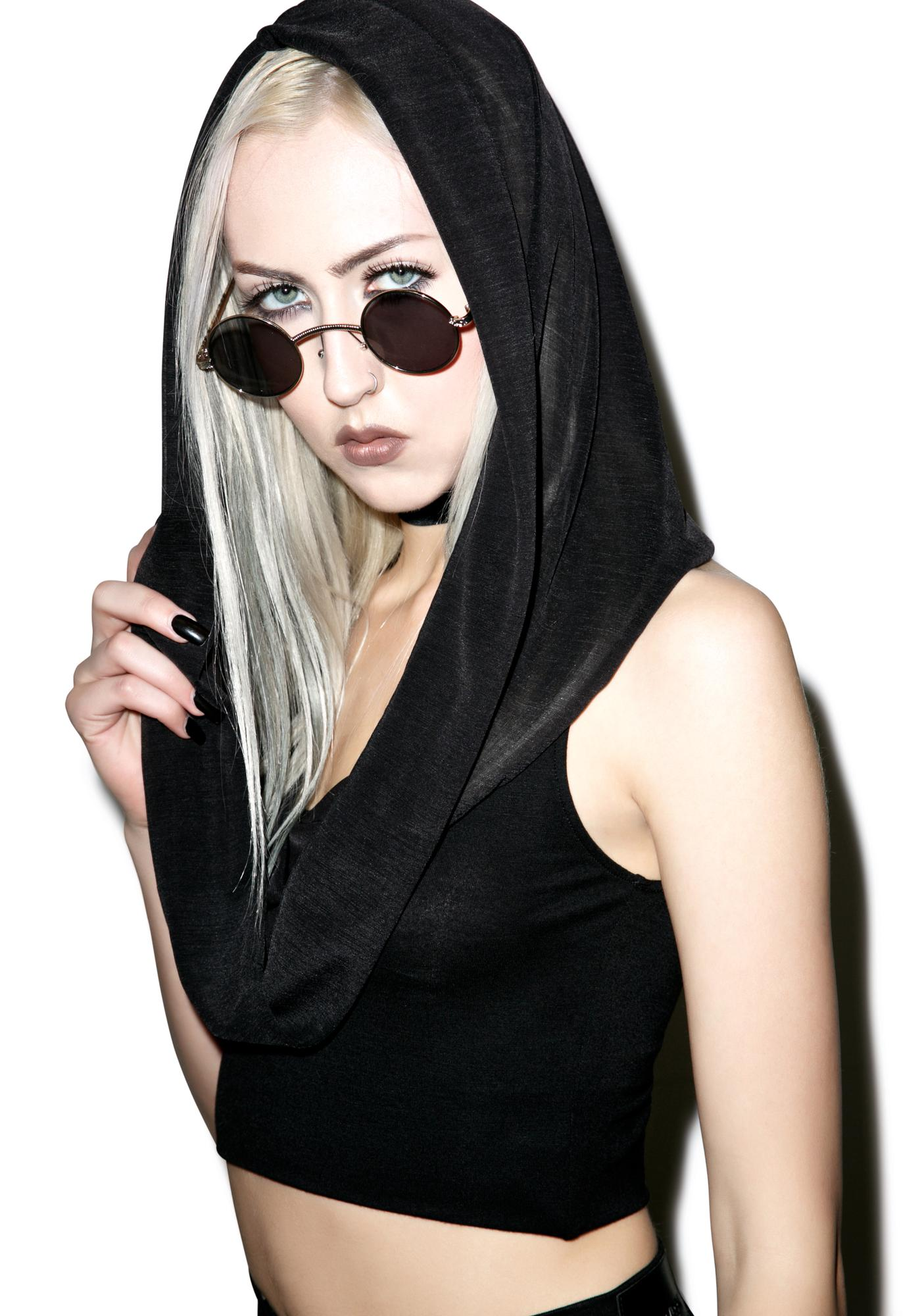 Widow Forever Mourning Hooded Top