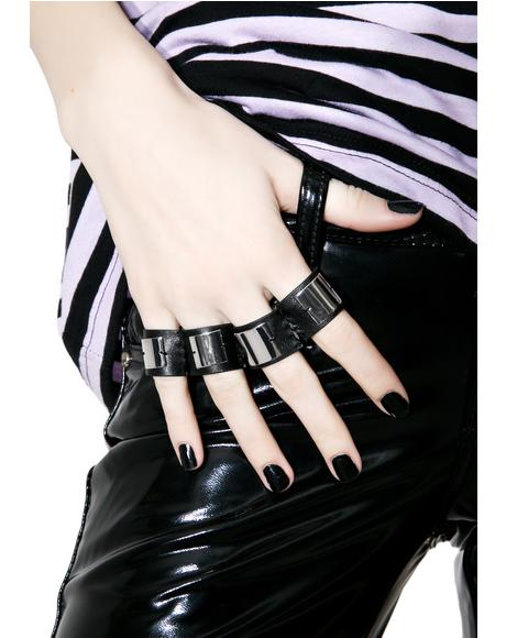 Leatherette Fingerless Ring