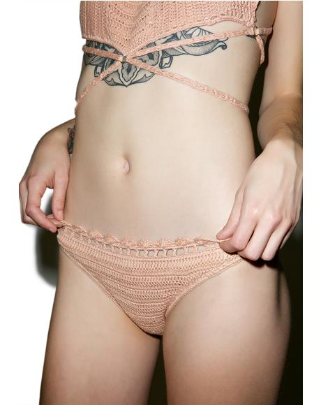 Daphne Crochet High Bikini Bottom