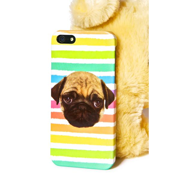 Local Heroes Rainbow Pug iPhone 5 Case