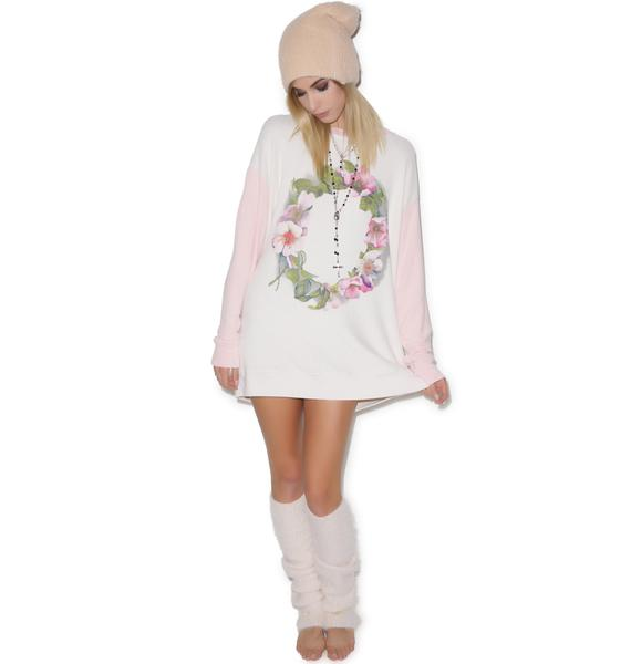 Wildfox Couture Flower Wreath Roadtrip Sweater