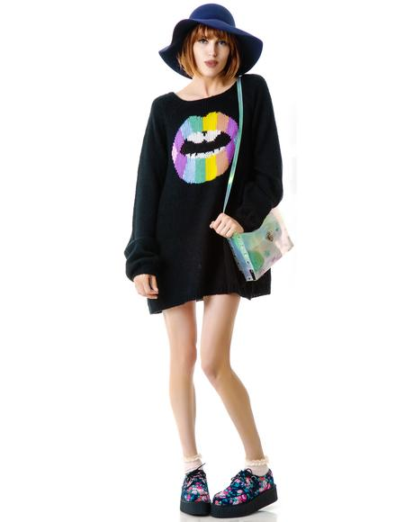 Psychodelic Lips CA Dream Sweater