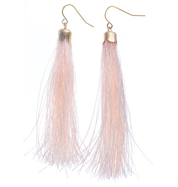 Tickle Me Pink Tassel Earrings