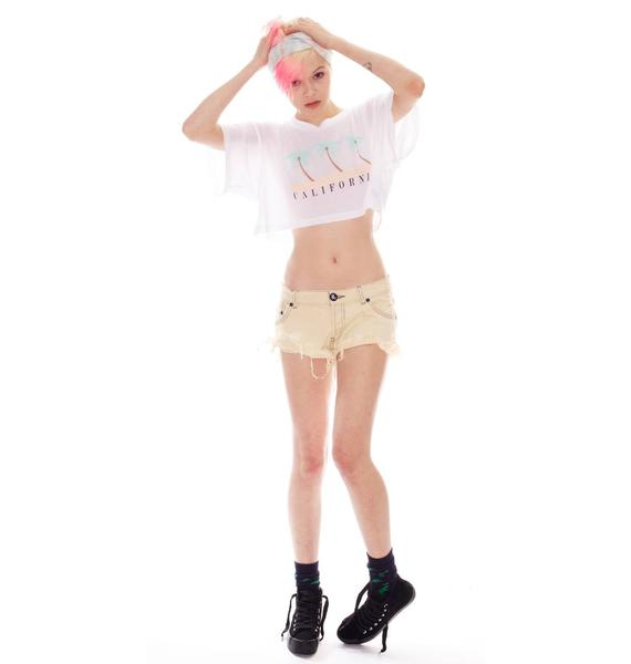 Wildfox Couture California Coast Cabana Crop Tee