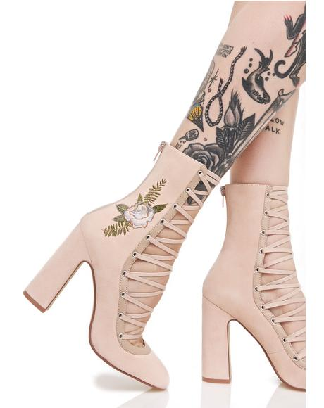 Sylvia Lace-Up Heels