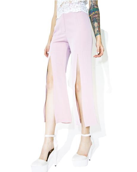 Bisou Front Slit Pants