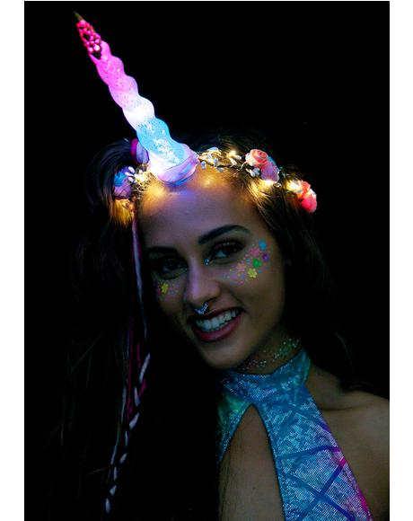 Unicorn Queen Light-Up Flower Crown