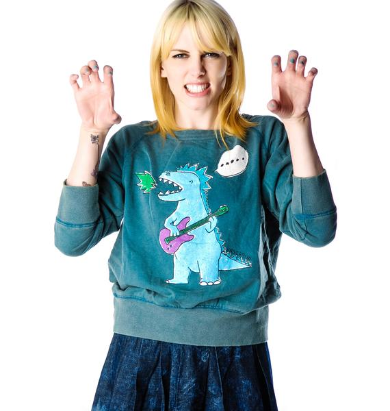 Dino Blues Raglan