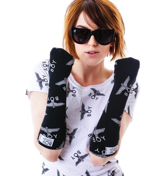 BOY London Allover Eagle Gloves