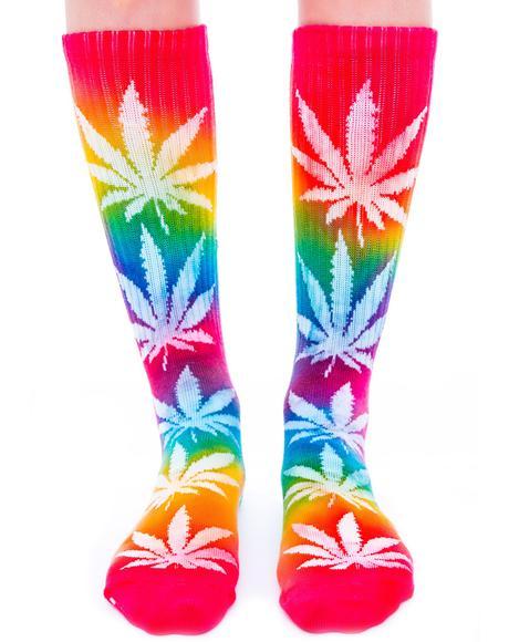 Tie Dye Plantlife Sock