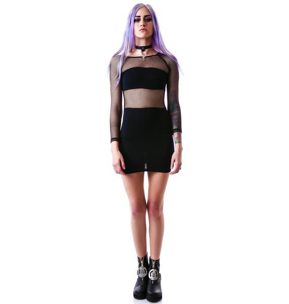 24HRS Freshest Fishnet Dress