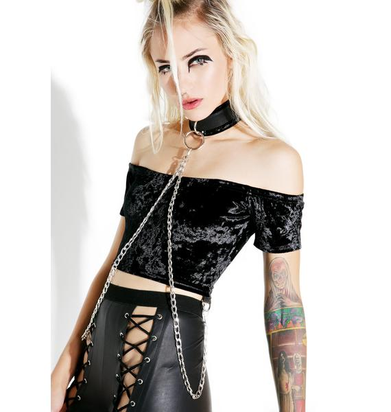 Current Mood Viper Bondage Crop Top