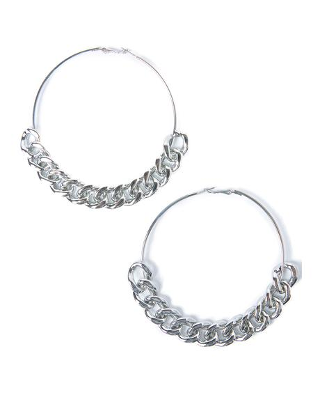 Silver Chain Gang Earrings