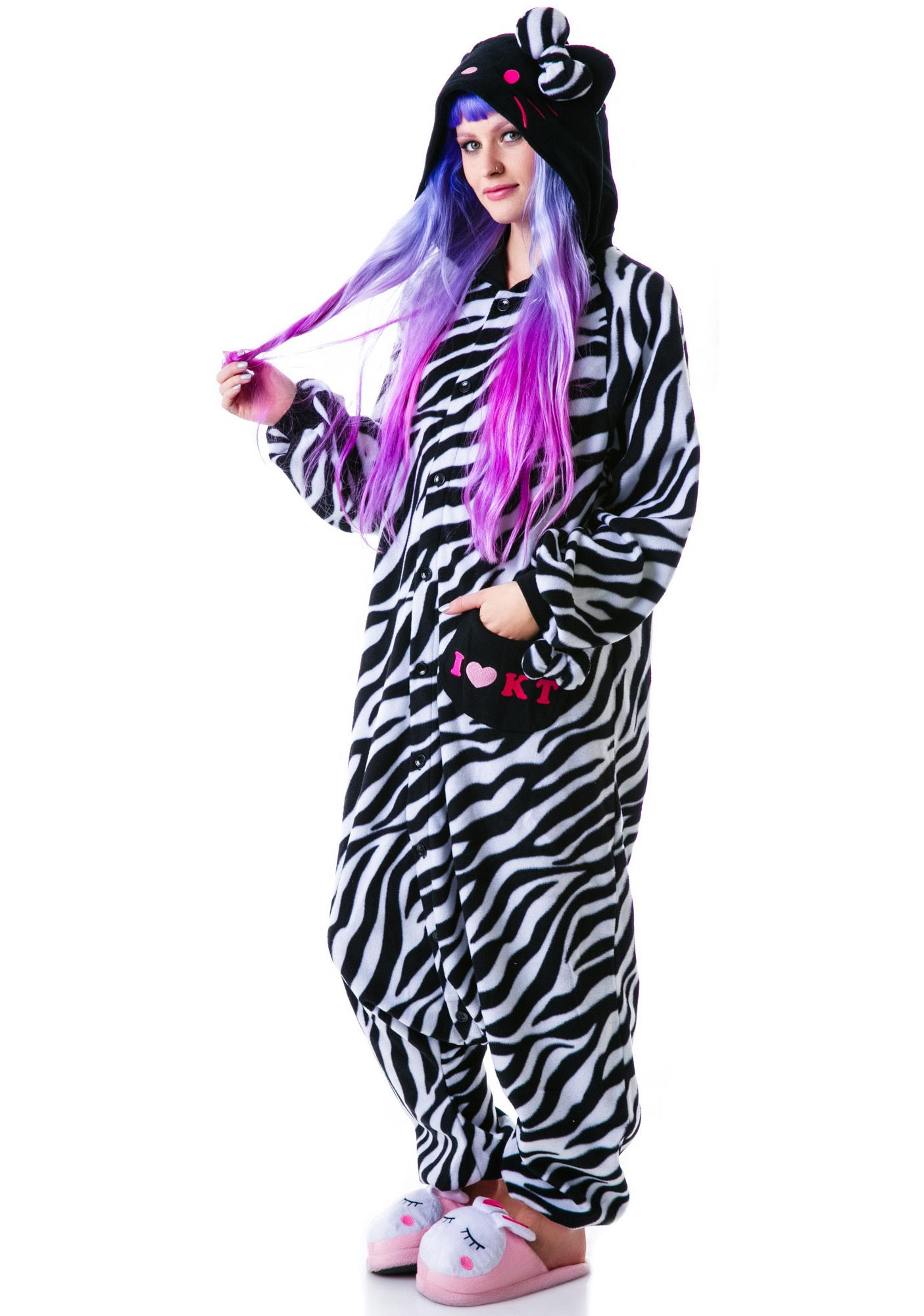Sazac Kigurumi Zebra Hello Kitty