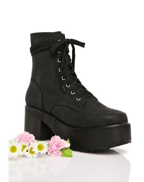 Grunge Petals Boots