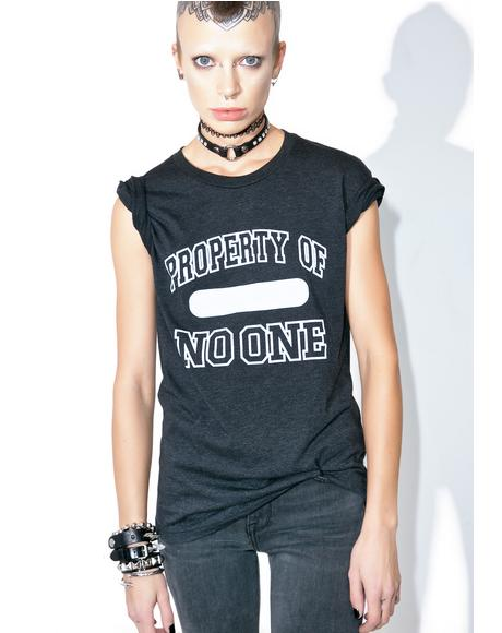 Property Of No One Tee